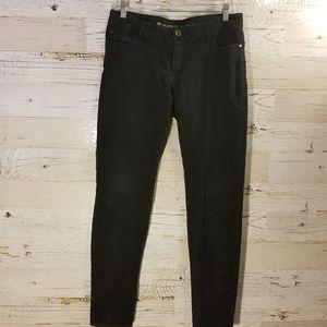 Celebrity pink black skinny jeans